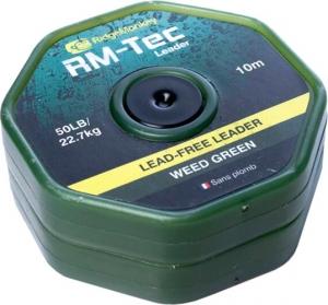 Лидкор RidgeMonkey RM-Tec Lead Free Leader 10m 50lb Weed Green