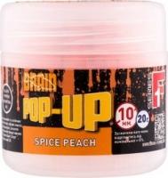 Бойлы плавающие BRAIN F1 Spice Peach 10mm, 20g