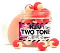Бойлы плавающие DYNAMITE BAITS Fluro Two Tone Strawberry & Coconut Cream 15mm