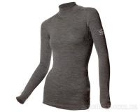 Термофутболка для беременных с длинным рукавом NORVEG Soft, серый меланж