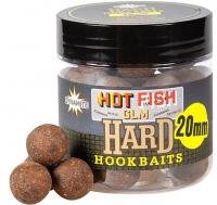Бойлы насадочные DYNAMITE BAITS Hard Hook Baits - Hot Fish & GLM 20mm