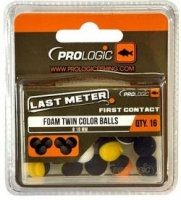 Искуственные бойлы PROLOGIC Foam Twin Color Balls 10mm 16pcs