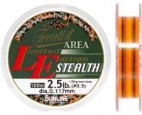 Леска SUNLINE TROUTIST AREA L.E. STEALTH 100m #0.5/0.117mm 2.5lb/1.25kg /Dark Green & Flash Orange