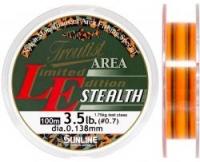 Леска SUNLINE TROUTIST AREA L.E. STEALTH 100m #0.7/0.138mm 3.5lb/1.75kg /Dark Green & Flash Orange
