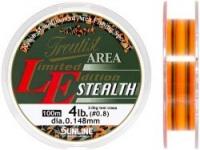 Леска SUNLINE TROUTIST AREA L.E. STEALTH 100m #0.8/0.148mm 4lb/2kg /Dark Green & Flash Orange