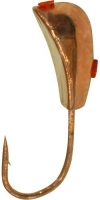 Мормышка вольфрамовая SHARK Уралка 0.3g, 3mm, гальваника, медь