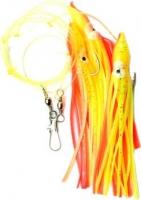 Оснастка для морской рыбалки SAENGER AQUANTIC Octopus-Systeme 1.60m - 3/0 - orange / yellow