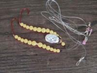 Оснастка для морской рыбалки SAENGER AQUANTIC Pearl Rig III yellow fluo 1.10m - 1/0