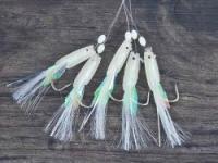 Оснастка для морской рыбалки SAENGER AQUANTIC Rig Makrele VI White 1.60m - 1/0