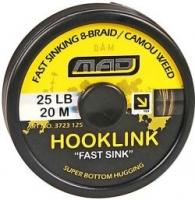 "Поводковый материал DAM MAD HOOKLINK ""FAST SINK"" 20m 25lb /Camou Weed"