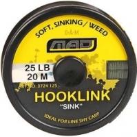 """Поводковый материал DAM MAD HOOKLINK """"SINK"""" 20m 25lb /Weed"""