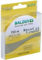 Шнур BALZER Iron Line 8 150m 0.14mm 10.7kg /Yellow