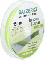Шнур BALZER Iron Line Spin x4 Chartreuse 150m 0.22mm 14.2kg