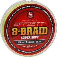 Шнур DAM EFFZETT 8-BRAID 125m 0.25mm 50lb/22.7kg /Yellow