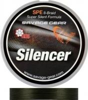 Шнур SAVAGE GEAR HD8 Silencer Braid 300m 0.32mm 58lb/26kg Green