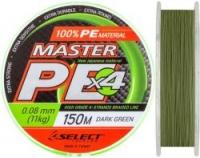 Шнур SELECT Master PE 100m 0.36mm 42kg /Dark Green