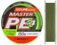 Шнур SELECT Master PE 150m 0.16mm /Dark Green