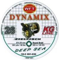 Шнур WFT Round Dynamix Deep Sea Green 26KG 520m 0.30mm 58lbs