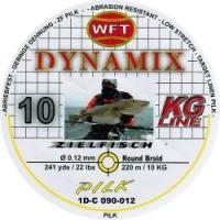 Шнур WFT Round Dynamix Pilk Yellow 220m 0.12mm 22lb/10kg