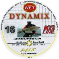 Шнур WFT Round Dynamix Pilk Yellow 220m 0.18mm 36lb/16kg