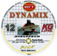 Шнур WFT Round Dynamix Pilk Yellow 220m 0.14mm 27lb/12kg